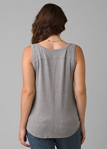 Foundation Scoop Neck Tank Foundation Scoop Neck Tank, Heather Grey