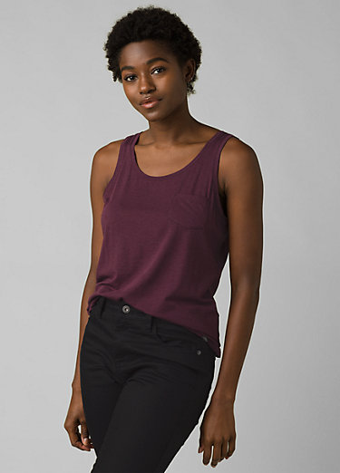Foundation Scoop Neck Tank Foundation Scoop Neck Tank, Raisin Heather