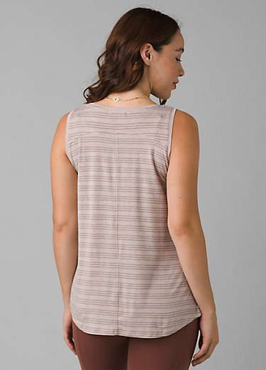 Foundation Scoop Neck Tank Foundation Scoop Neck Tank, Sparrow Heather Stripe