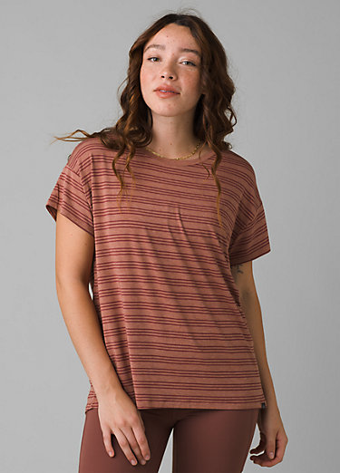 Foundation Slouch Top Foundation Slouch Top, Vino Heather Stripe