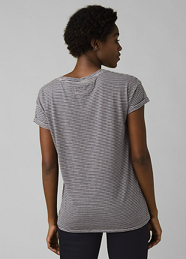 Cozy Up T-shirt Cozy Up T-shirt, Pebble Grey Heather Stripe