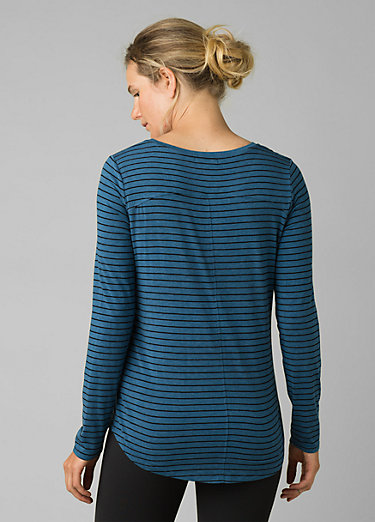 Foundation Long Sleeve Crew Foundation Long Sleeve Crew, Admiral Heather Stripe