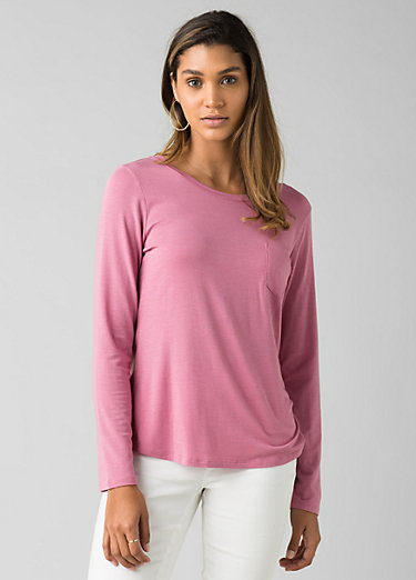 Foundation Long Sleeve Crew Foundation Long Sleeve Crew, Cassis Heather