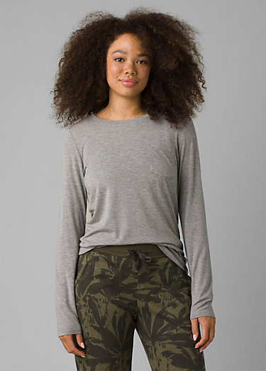 Foundation Long Sleeve Crew Foundation Long Sleeve Crew, Heather Grey