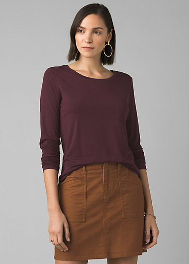 Foundation Long Sleeve Crew Foundation Long Sleeve Crew, Raisin Heather