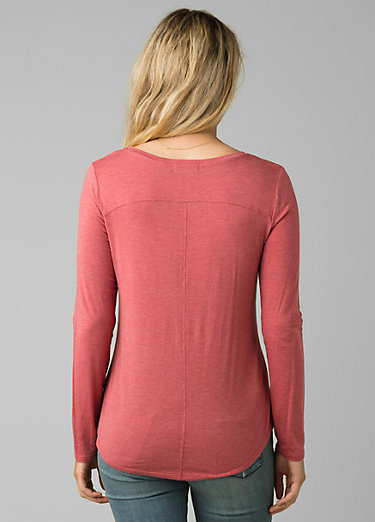 Foundation Long Sleeve Crew Foundation Long Sleeve Crew, Rouge Heather