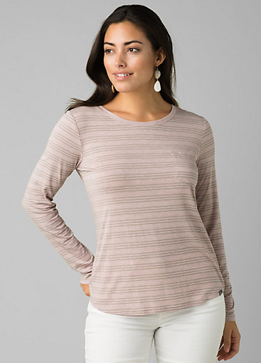 Foundation Long Sleeve Crew Foundation Long Sleeve Crew, Sparrow Heather Stripe
