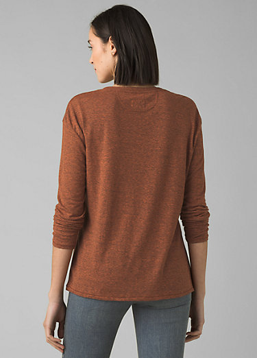 Cozy Up Long Sleeve Tee Cozy Up Long Sleeve Tee, Cedar Heather