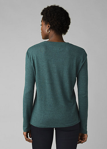 Cozy Up Long Sleeve Tee Cozy Up Long Sleeve Tee, Peacock Heather