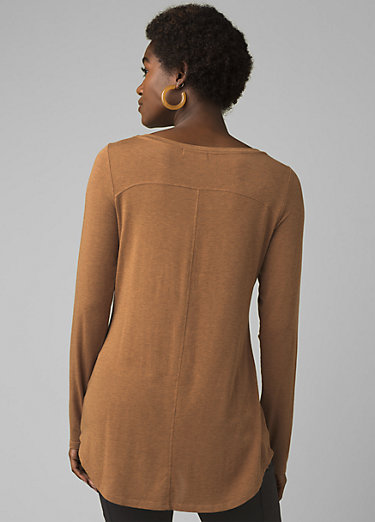Foundation Long Sleeve Tunic Foundation Long Sleeve Tunic, Antique Bronze Heather