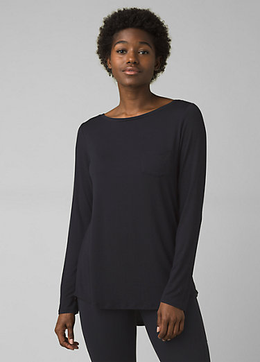 Foundation Long Sleeve Tunic Foundation Long Sleeve Tunic, Black