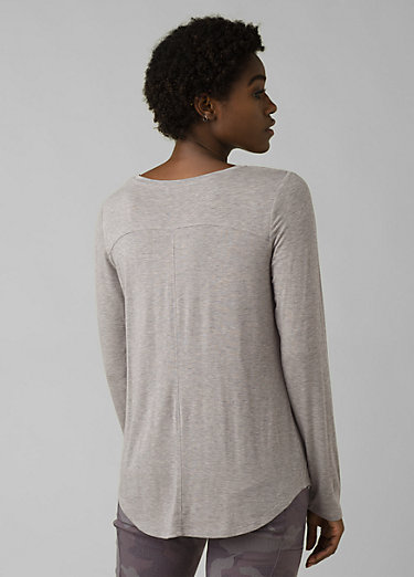Foundation Long Sleeve Tunic Foundation Long Sleeve Tunic, Heather Grey