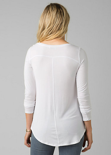 Foundation Long Sleeve Tunic Foundation Long Sleeve Tunic, White