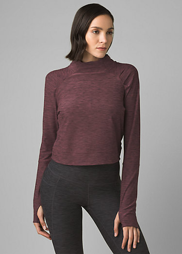 Zandra Funnel Neck Zandra Funnel Neck, Raisin Heather