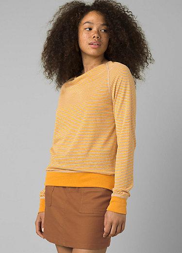 Analia Cozy Up Top Analia Cozy Up Top, Persimmon Stripe Heather