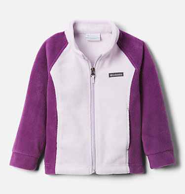 Girls' Toddler Benton Springs™ Fleece Jacket Benton Springs™ Fleece | 618 | 4T, Plum, Pale Lilac, front
