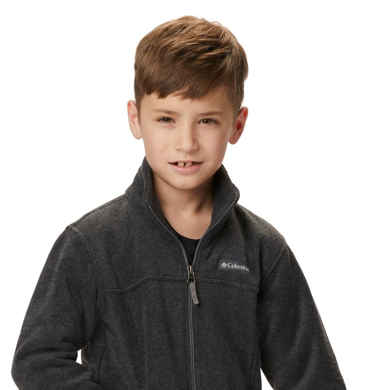 Steens Mt™ II Fleece | 008 | XL Boys' Steens Mountain™ II Fleece Jacket, Charcoal Heather, a5