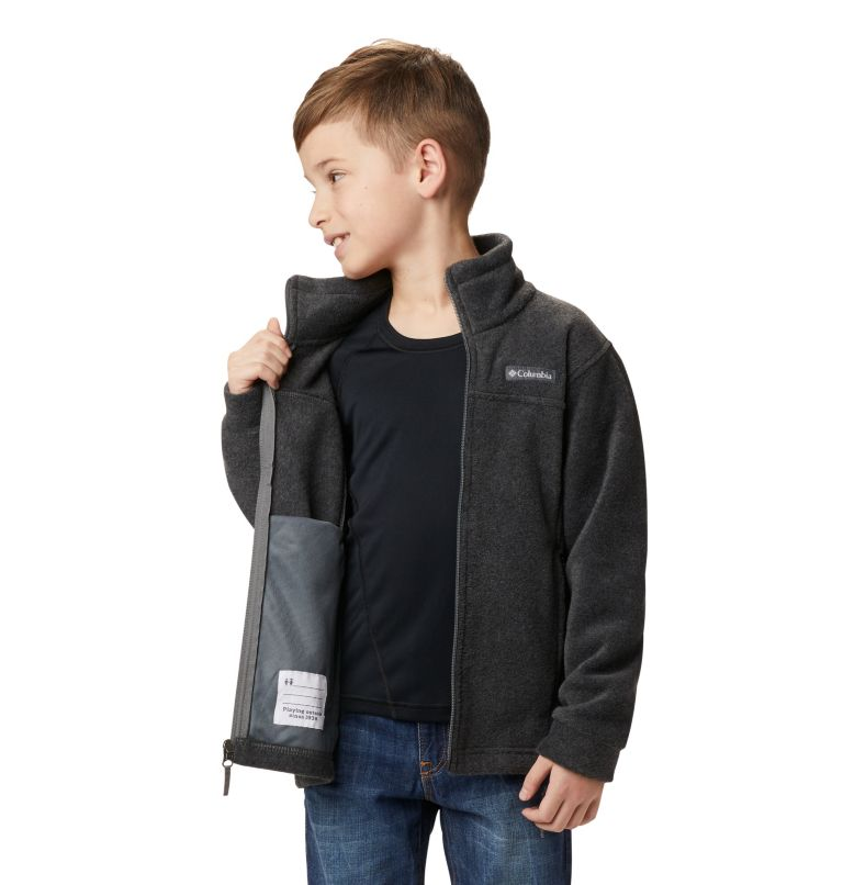 Steens Mt™ II Fleece | 008 | XL Boys' Steens Mountain™ II Fleece Jacket, Charcoal Heather, a6