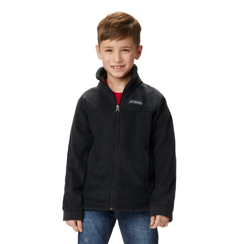 Steens Mt™ II Fleece | 010 | XS Boys' Steens Mountain™ II Fleece Jacket, Black, front