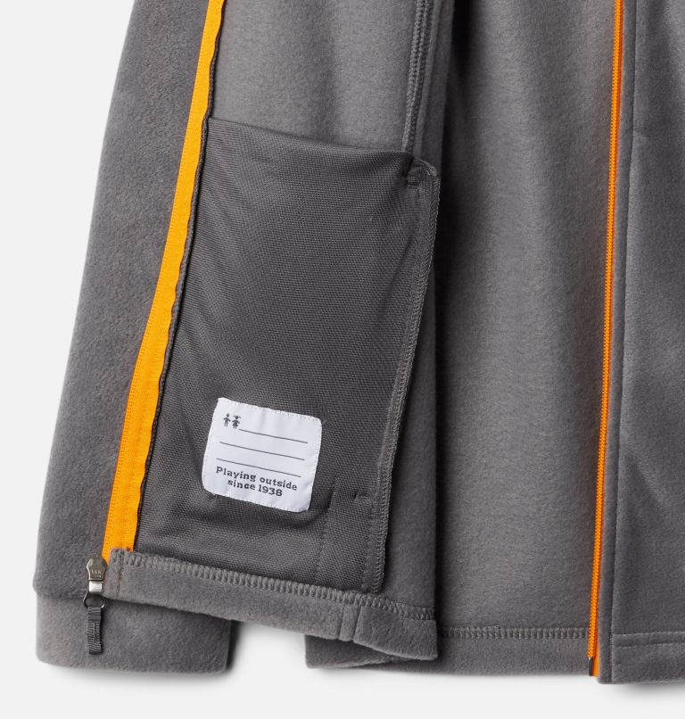 Steens Mt™ II Fleece | 024 | XS Boys' Steens Mountain™ II Fleece Jacket, City Grey, Flame Orange, a1
