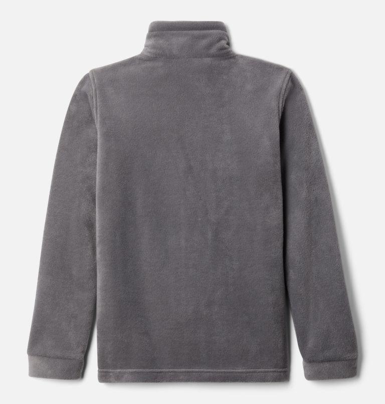 Steens Mt™ II Fleece | 024 | S Boys' Steens Mountain™ II Fleece Jacket, City Grey, Flame Orange, back