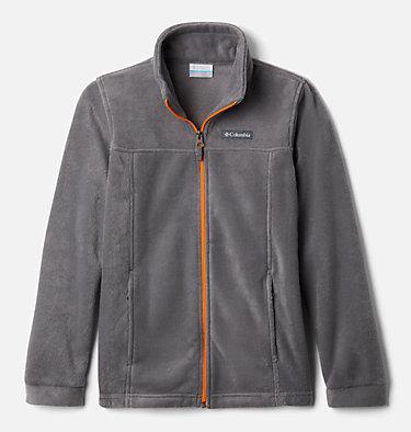 Boys' Steens Mountain™ II Fleece Jacket Steens Mt™ II Fleece | 030 | L, City Grey, Flame Orange, front