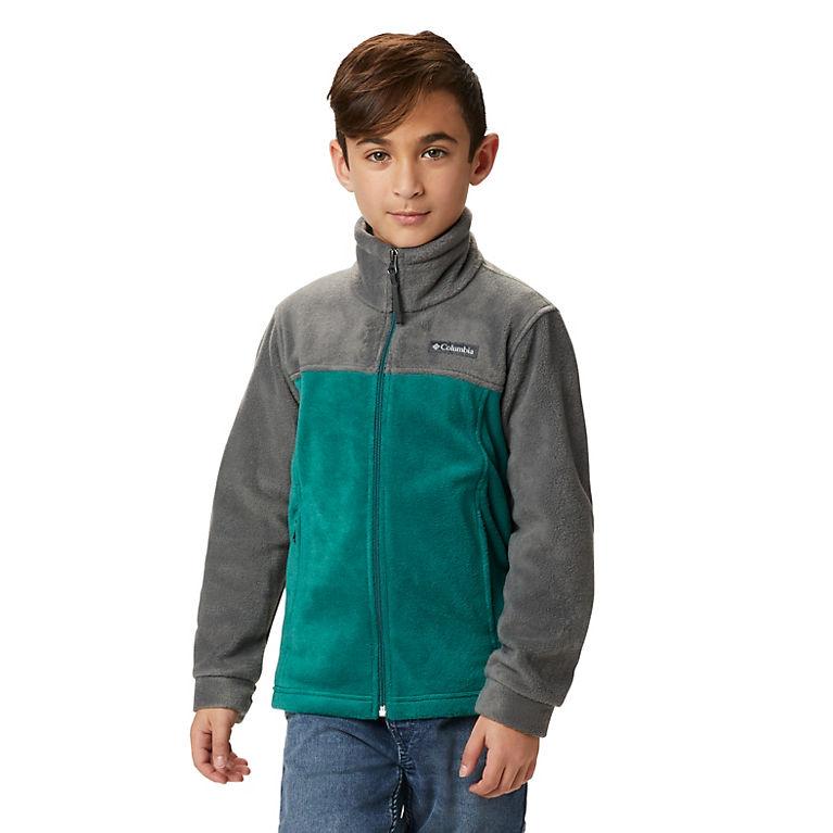 Pine Green, Grill Boys' Steens Mountain™ II Fleece Jacket, View 0