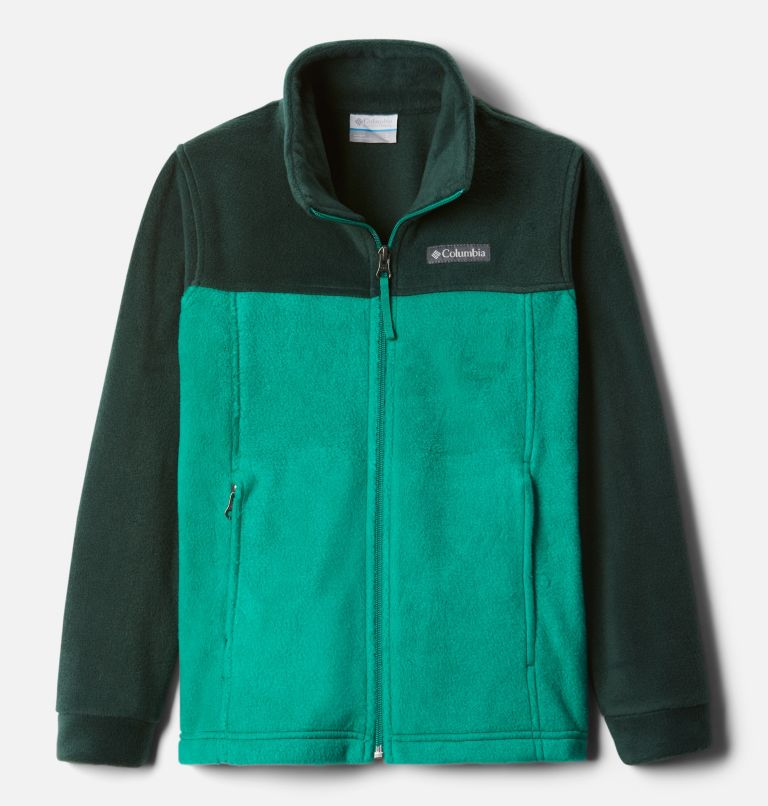Steens Mt™ II Fleece | 374 | M Boys' Steens Mountain™ II Fleece Jacket, Emerald Green, Spruce, front