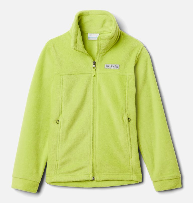 Steens Mt™ II Fleece | 386 | XS Boys' Steens Mountain™ II Fleece Jacket, Bright Chartreuse, front
