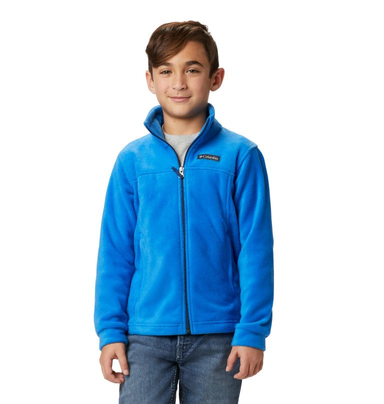 Steens Mt™ II Fleece   438   XS Boys' Steens Mountain™ II Fleece Jacket, Super Blue, front
