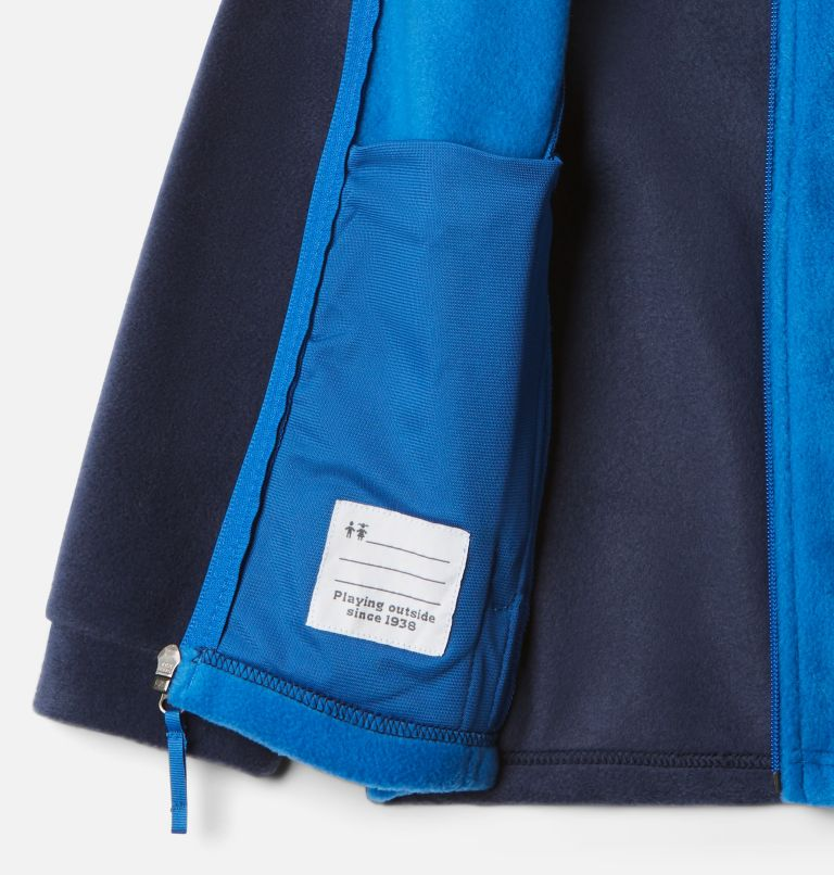 Steens Mt™ II Fleece | 440 | L Boys' Steens Mountain™ II Fleece Jacket, Bright Indigo, Collegiate Navy, a1