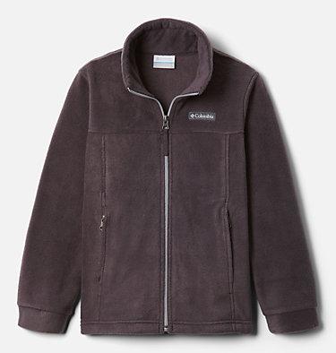 Boys' Steens Mountain™ II Fleece Jacket Steens Mt™ II Fleece | 030 | L, Dark Purple, Columbia Grey, front