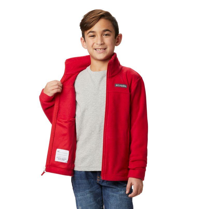 Steens Mt™ II Fleece | 614 | M Boys' Steens Mountain™ II Fleece Jacket, Mountain Red, a4