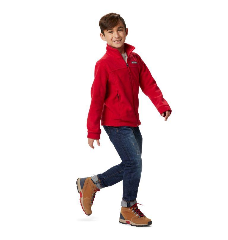 Steens Mt™ II Fleece | 614 | M Boys' Steens Mountain™ II Fleece Jacket, Mountain Red, a7