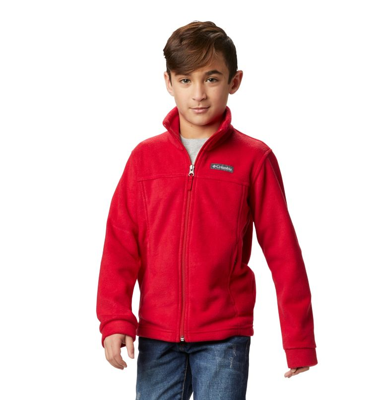 Steens Mt™ II Fleece | 614 | S Boys' Steens Mountain™ II Fleece Jacket, Mountain Red, front
