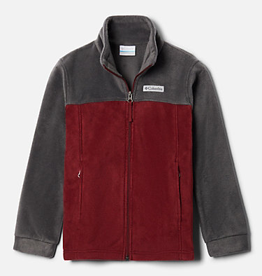 Boys' Steens Mountain™ II Fleece Jacket Steens Mt™ II Fleece | 030 | L, Red Jasper, Shark, front