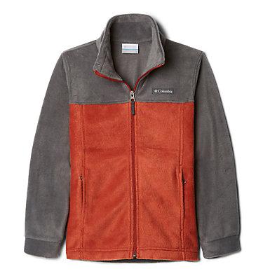 Boys' Steens Mountain™ II Fleece Jacket Steens Mt™ II Fleece | 030 | L, Carnelian Red, Grill, 3/4 front
