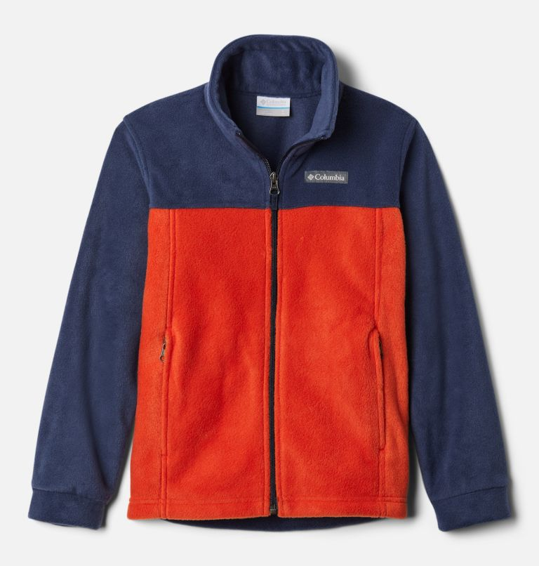 Steens Mt™ II Fleece | 849 | XXS Boys' Steens Mountain™ II Fleece Jacket, Bonfire, Collegiate Navy, front