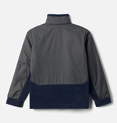 Boys' Steens Mountain™ Overlay Fleece Jacket Steens Mt™ Overlay | 010 | M, Collegiate Navy, Grill, back
