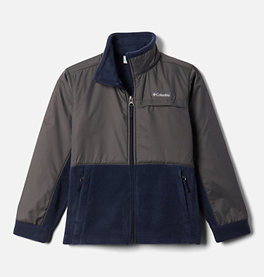 Boys' Steens Mountain™ Overlay Fleece Jacket Steens Mt™ Overlay | 010 | M, Collegiate Navy, Grill, front