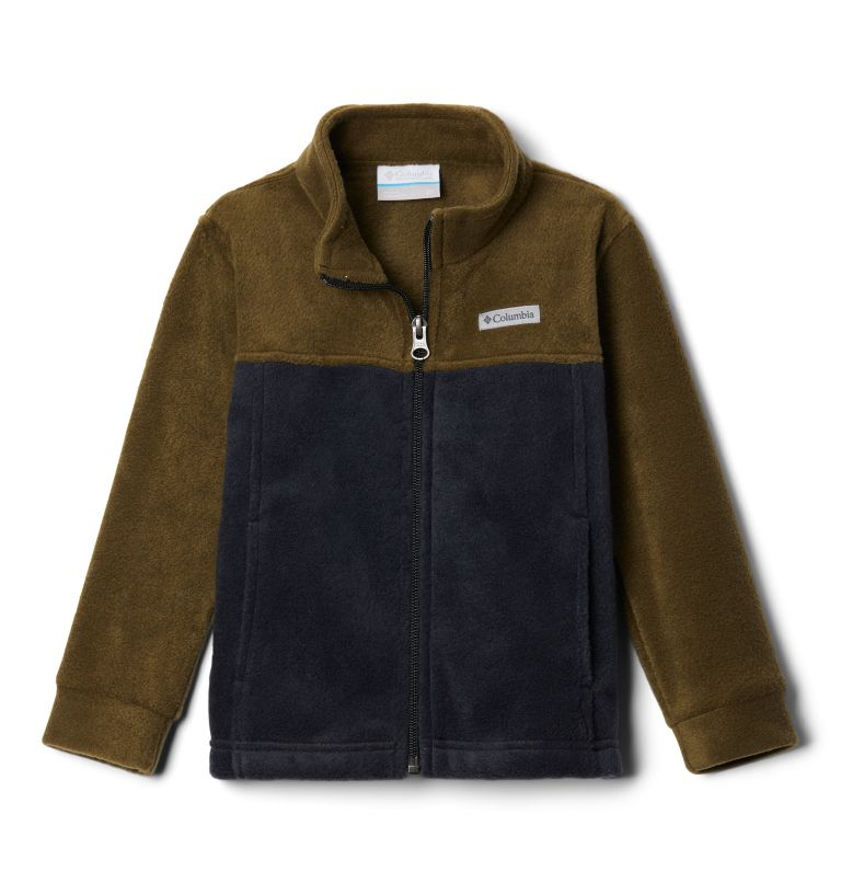 Steens Mt™ II Fleece | 009 | 2T Boys' Toddler Steens Mountain™ II Fleece Jacket, Black, New Olive, front