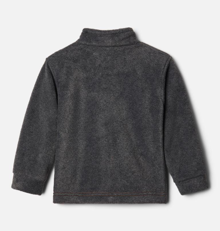 Steens Mt™ II Fleece | 848 | 3T Boys' Toddler Steens Mountain™ II Fleece Jacket, Bonfire, Charcoal Heather, back