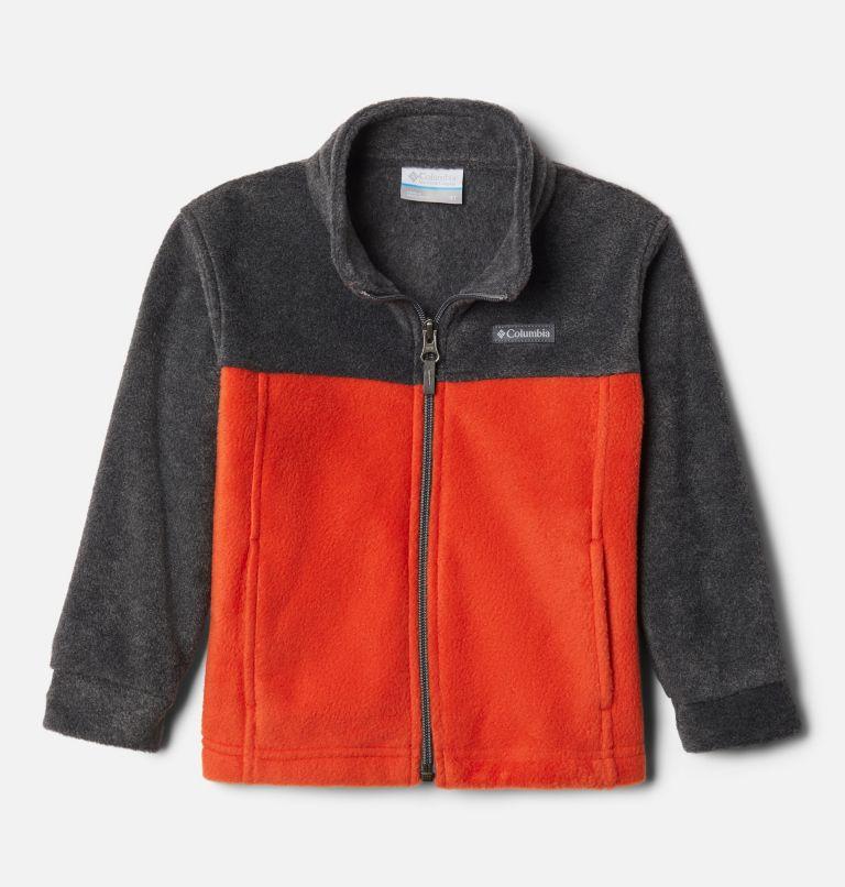 Steens Mt™ II Fleece | 848 | 3T Boys' Toddler Steens Mountain™ II Fleece Jacket, Bonfire, Charcoal Heather, front