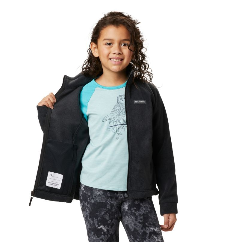Benton Springs™ Fleece | 010 | L Girls' Benton Springs™ Fleece Jacket, Black, a3