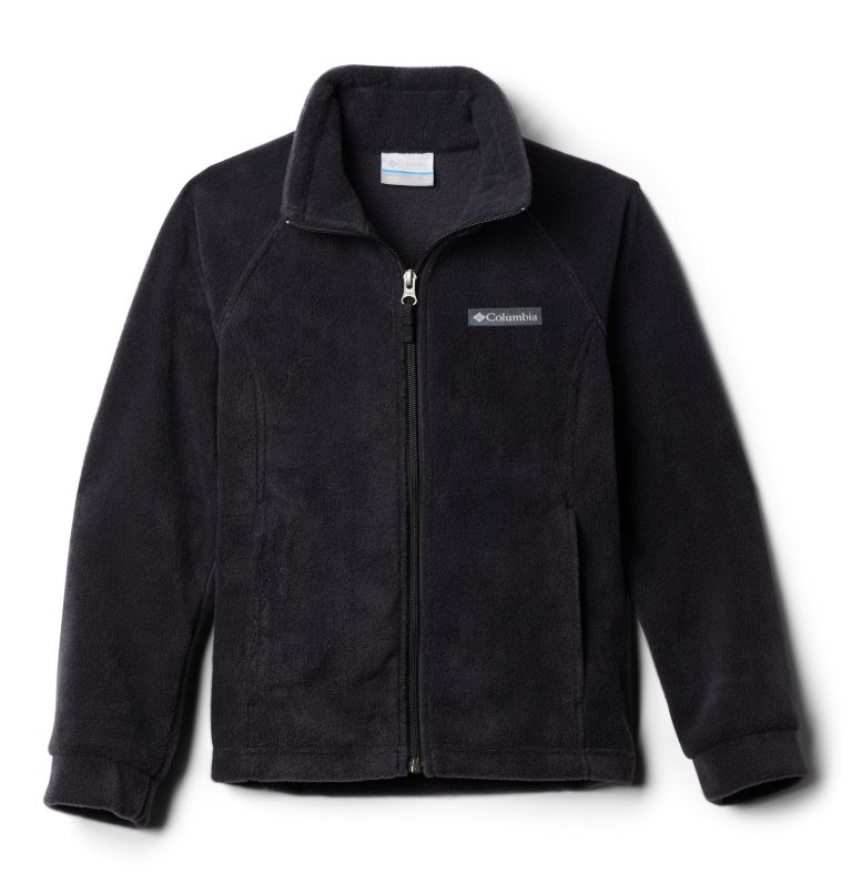 Benton Springs™ Fleece | 010 | L Girls' Benton Springs™ Fleece Jacket, Black, back