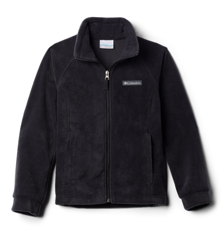 Benton Springs™ Fleece | 010 | L Girls' Benton Springs™ Fleece Jacket, Black, 3/4 front