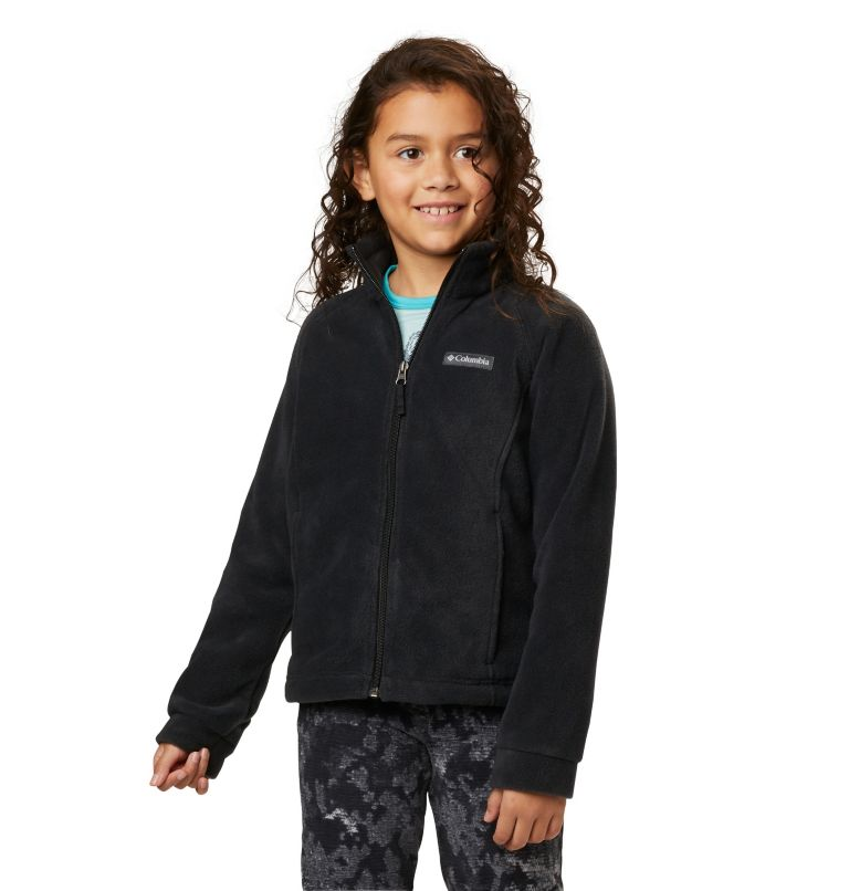 Benton Springs™ Fleece   010   S Girls' Benton Springs™ Fleece Jacket, Black, front