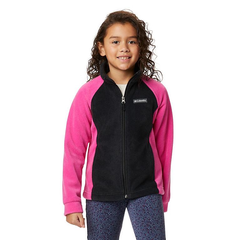 Black, Pink Ice Girls' Benton Springs™ Fleece Jacket, View 0