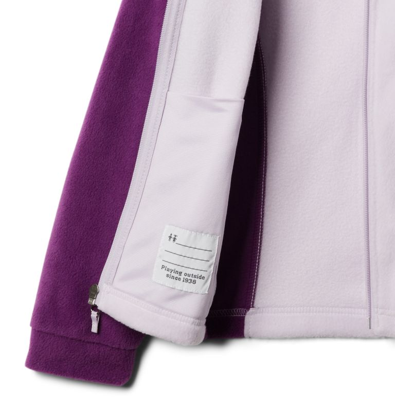 Benton Springs™ Fleece | 575 | M Girls' Benton Springs™ Fleece Jacket, Plum, Pale Lilac, a1