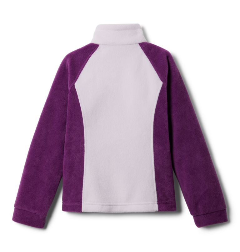 Benton Springs™ Fleece | 575 | M Girls' Benton Springs™ Fleece Jacket, Plum, Pale Lilac, back